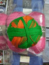 Zauberball - Gr�n Orange Tick, Schoppel-Wolle