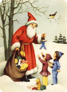 Weihnachtsmann Bescherung