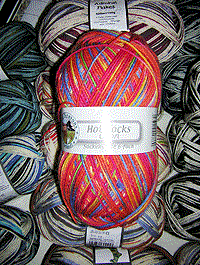 Hot Socks Colori 150 - rot blau gelb, Gründl