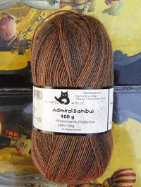 Admiral Bambus - aquarell ocker mittelbraun , Schoppel-Wolle