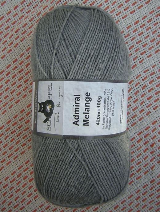 Admiral Melange - Graumelange, Schoppel-Wolle
