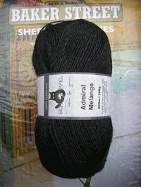 Admiral Melange - Schwarzmelange, Schoppel-Wolle