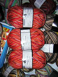 Admiral R Druck Intarsia - orange henna braun, Schoppel-Wolle