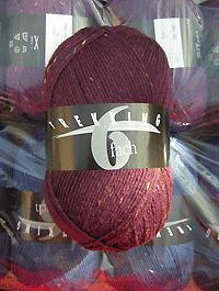 Trekking 6-fach Tweed - brombeere violett dunkel , Atelier Zitron