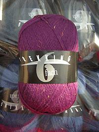 Trekking 6-fach Tweed - brombeere violett, Atelier Zitron