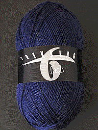 Trekking 6-fach Uni - dunkelblau - Farbe 1708