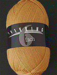 Trekking 6-fach Uni - ocker - Farbe 1712