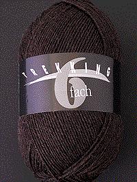 Trekking 6-fach Wolle Uni | Farbcode 1713, dunkelbraun