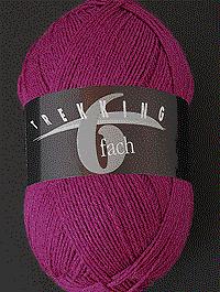 Trekking 6-fach Wolle Uni | Farbcode 1715, grosspink