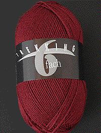 Trekking 6-fach Uni - rotbraun - Farbe 1719