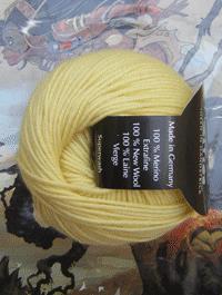 Life Style Wolle - gelb festlich - Farbe 28