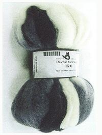 Filzwolle Ombre Kammzug - Schatten - Farbe 1508ombre