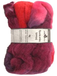 Filzwolle Ombre Kammzug - Indisch Rosa  - Farbe 2095