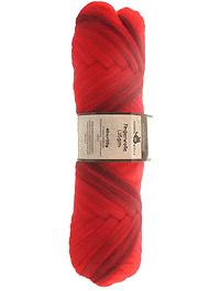 Filzwolle Fingerwolle Regenbogenkammzug - Cranberries - Farbe 1874ombre