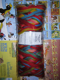 Filzwolle Fingerwolle Regenbogenkammzug - Papagei - Farbe 1701