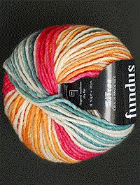 Fundus - rot ocker weiss hellblau, Atelier Zitron