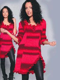 Wollpaket: Kleid im Carmenstil: Gr�sse 40/42 - Farbe 1963