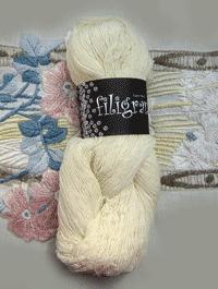 Filigran Lace Uni - naturweiss - Farbe 2501