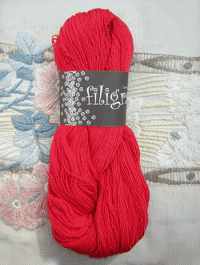 Filigran Lace Uni - flammenrot - Farbe 2506