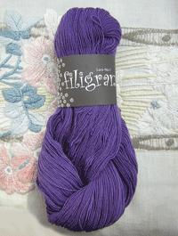 Filigran Lace Uni - violett - Farbe 2508