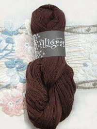 Filigran Lace Uni - kaffebraun - Farbe 2514