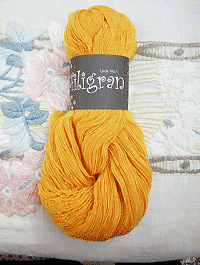 Filigran Lace Uni - sonnengelb - Farbe 2521