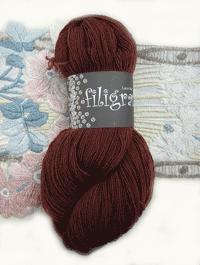 Filigran Lace Uni - schokobraun - Farbe 2523