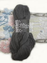 Filigran Lace Uni - steingrau - Farbe 2528