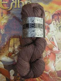 Filisilk Lace Uni - braun violett hell, Atelier Zitron