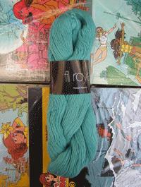 Fil Royal Lace Uni - grün türkis, Atelier Zitron