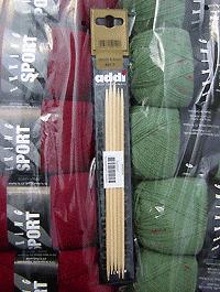 Addi - Nadelspiel Bambus 4,0 - Länge: 20 cm