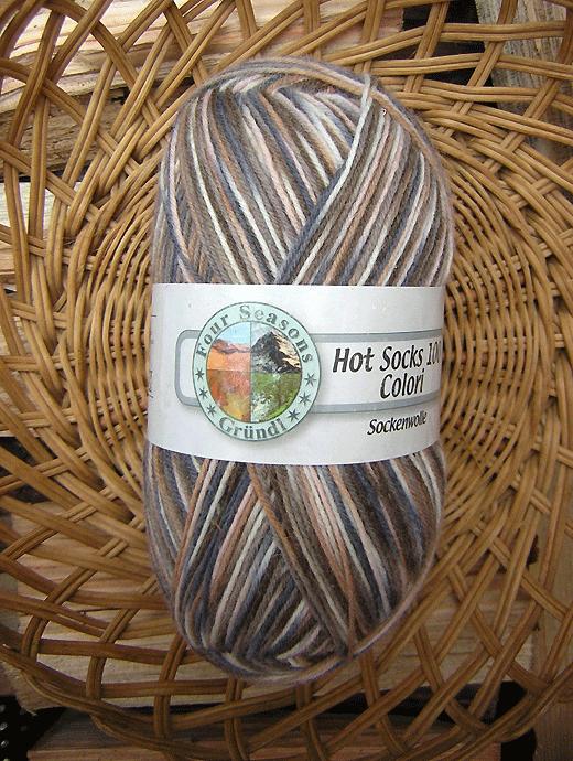 Hot Socks Colori 100 - grau braun weiss - Farbe 302