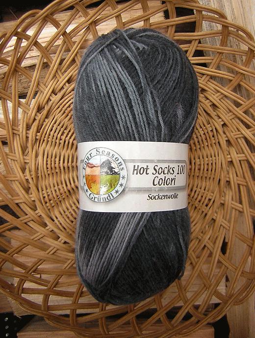 Hot Socks Colori 100 - schwarz grau - Farbe 318