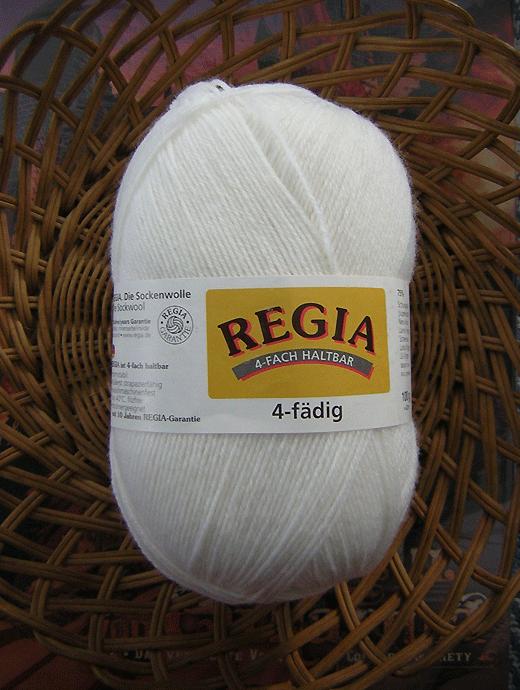 Regia 4-fädig Uni - weiss  - Farbe 02080