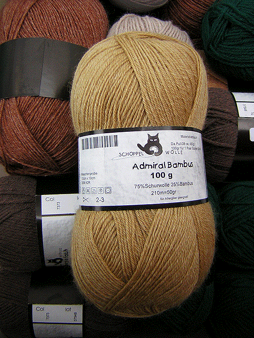 Admiral Bambus - walnuss - Farbe 0541