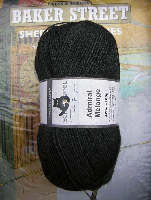 Admiral Melange - Schwarzmelange - Farbe 9093