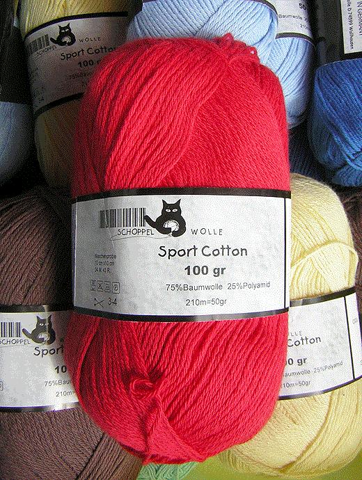 Sport Cotton - feuer - Farbe 1390