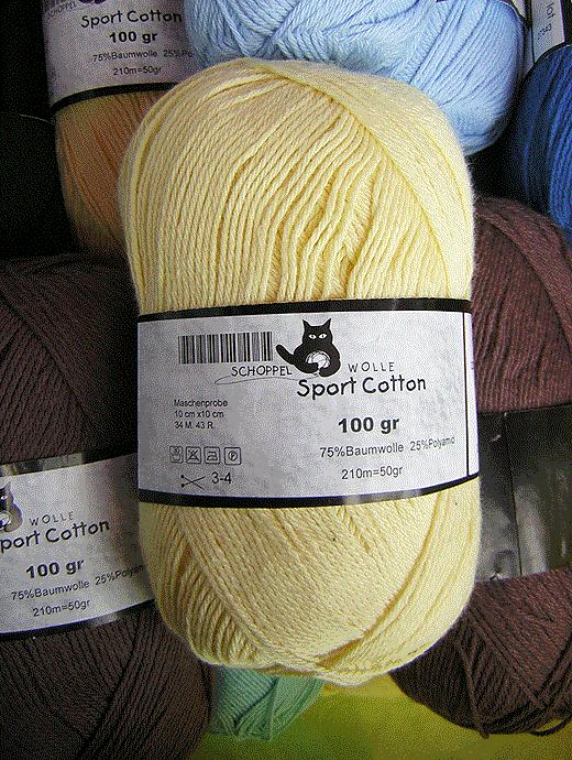 Sport Cotton - vanille - Farbe 0320