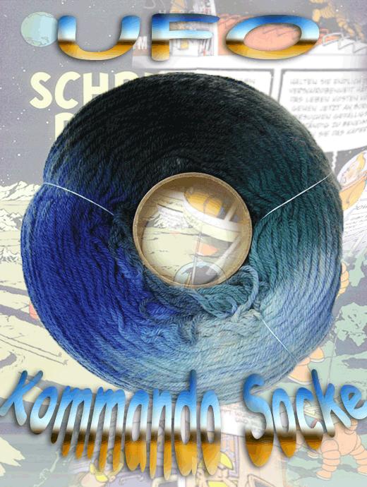 Fliegende Untertasse - Kommando Socke - Farbe 2112