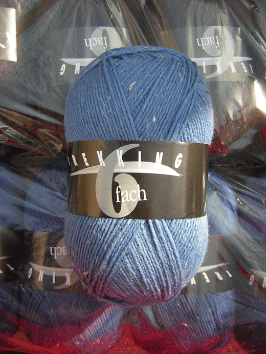 Trekking 6-fach Tweed - blauer himmel - Farbe 1874