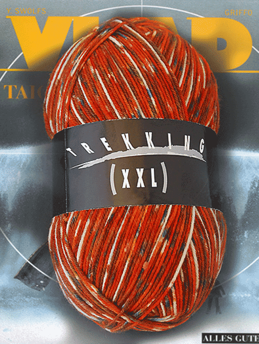 Trekking XXL Pfeffer und Salz - Abendrot  - Farbe 461