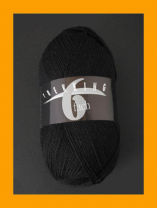 Trekking 6-fach Uni - schwarz - Farbe 1709