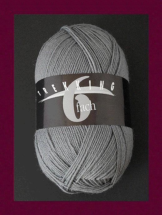 Trekking 6-fach Uni - grau - Farbe 1720