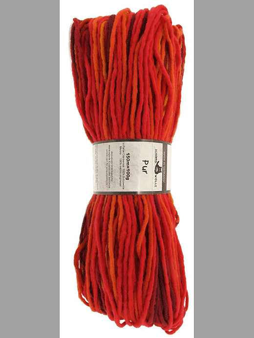Pur Wolle - Cranberries - Farbe 1963ombre