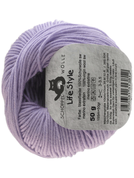 Life Style Wolle - blasser flieder  - Farbe 3331