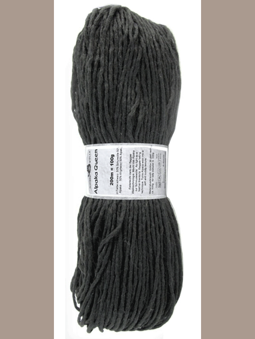 Alpaka Queen - Schwarz - Farbe 880