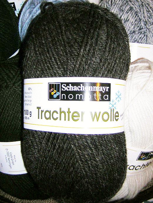 Trachtenwolle - braun meliert - Farbe 00010