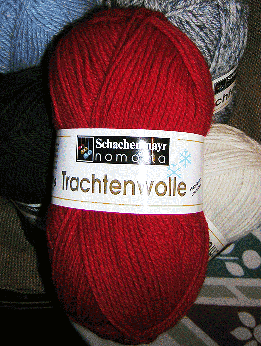 Trachtenwolle - rot - Farbe 00030