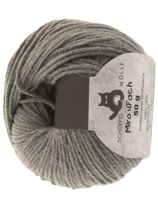 Miro 4 fach Uni - graumeliert - Farbe 8933