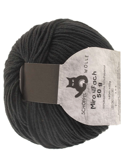 Miro 4 fach Uni - schwarz - Farbe 880